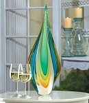 TEARDROP ART GLASS SCULPTURE COOL FLAME ART GLASS STATUE