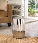 STOOL SILVER DECORATIVE  ACCENT TABLE