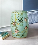 STOOL FLORAL GARDEN DECORATIVE STOOL