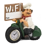 CHEF W/WIFI SIGN AND CLOCK