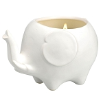WHITE LILY SCENTED ELEPHANT CANDLE