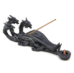 RESIN INCENSE BURNER/HOLDERS  TRIPLE-HEAD DRAGON INCENSE BURNER