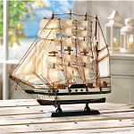 Collectible Model Ship Wooden Passat Tall Ship Boat Wood Assembled Home Decorations