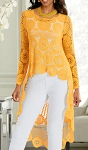 Sunshine and Sea Crochet Tunic  Yellow