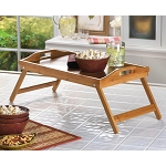 Versatile ** FOLDING BAMBOO TRAY ** Bed, Side Table or Serving Tray
